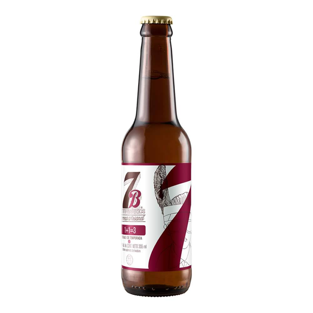 Cerveza 7 Barrios 1 + 1 = 3