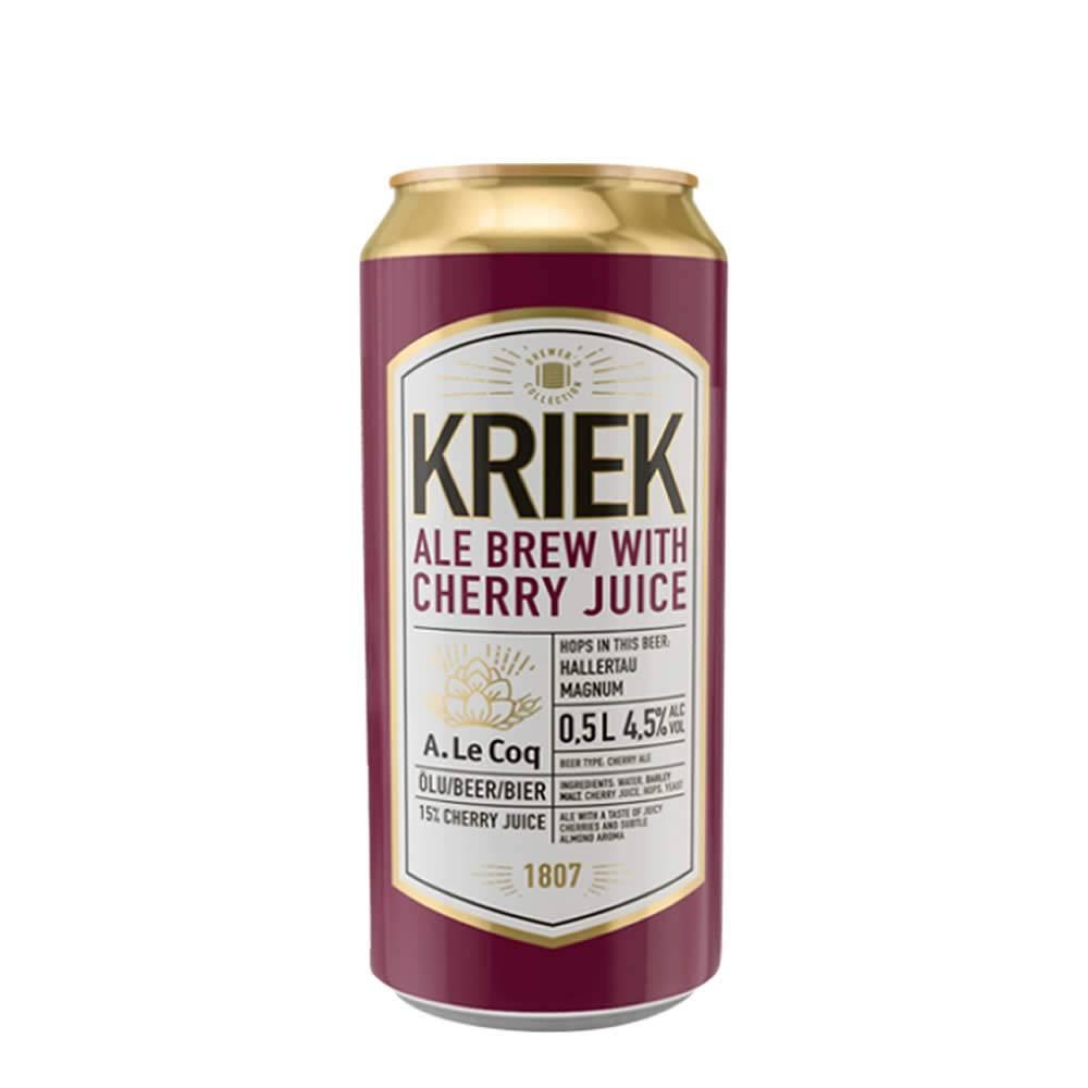 Cerveza A. Le Coq Kriek Lata